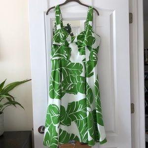 NWT Kate Spade fleur dress palm banana leaf sz 10